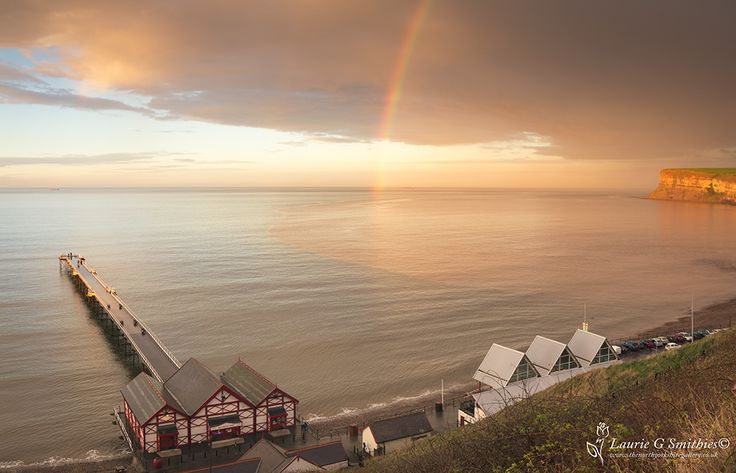 Saltburn Rainbow Over Huntcliff