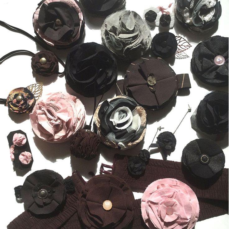 BissBiss   #bissbiss #shopbissbiss #fabricflowers #handmadewithlove #ooak #ecofashion #handmade #sustainable #accessories   #barrettes #earrings #brooches #handbagcharms