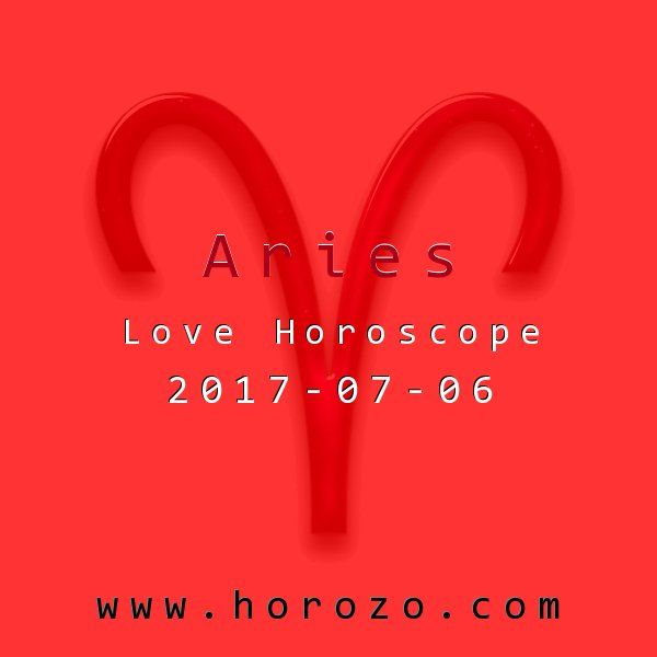 Aries Love horoscope for 2017-07-06: If you've had something (or someone) in mind for a while, romantically speaking, now's the time to take some action. Go ahead and try out the online personals or a friendly fix-up, and set some wheels in motion..aries