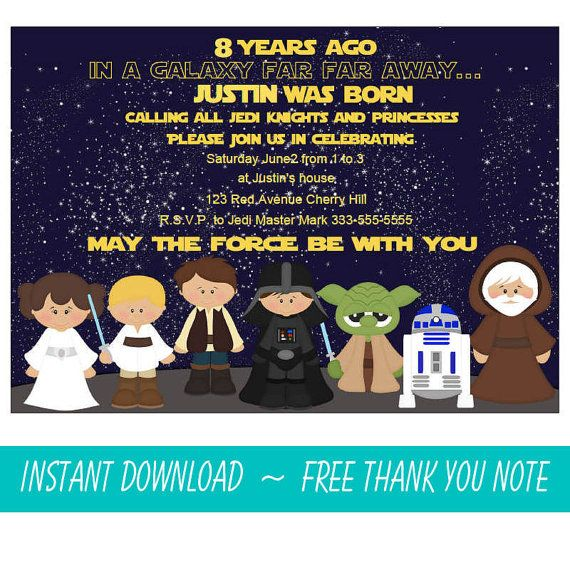 best images about star wars birthday ideas on   star, party invitations