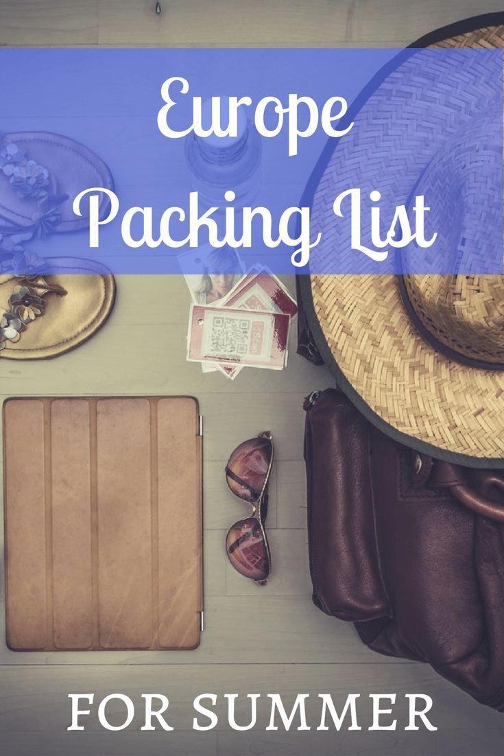 Headed to Europe during the warm weather? Here's a downloadable Europe packing list for the summer! Travel Tips.