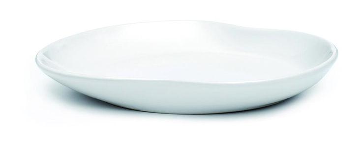 Hvid middagstallerken - Kähler Mano