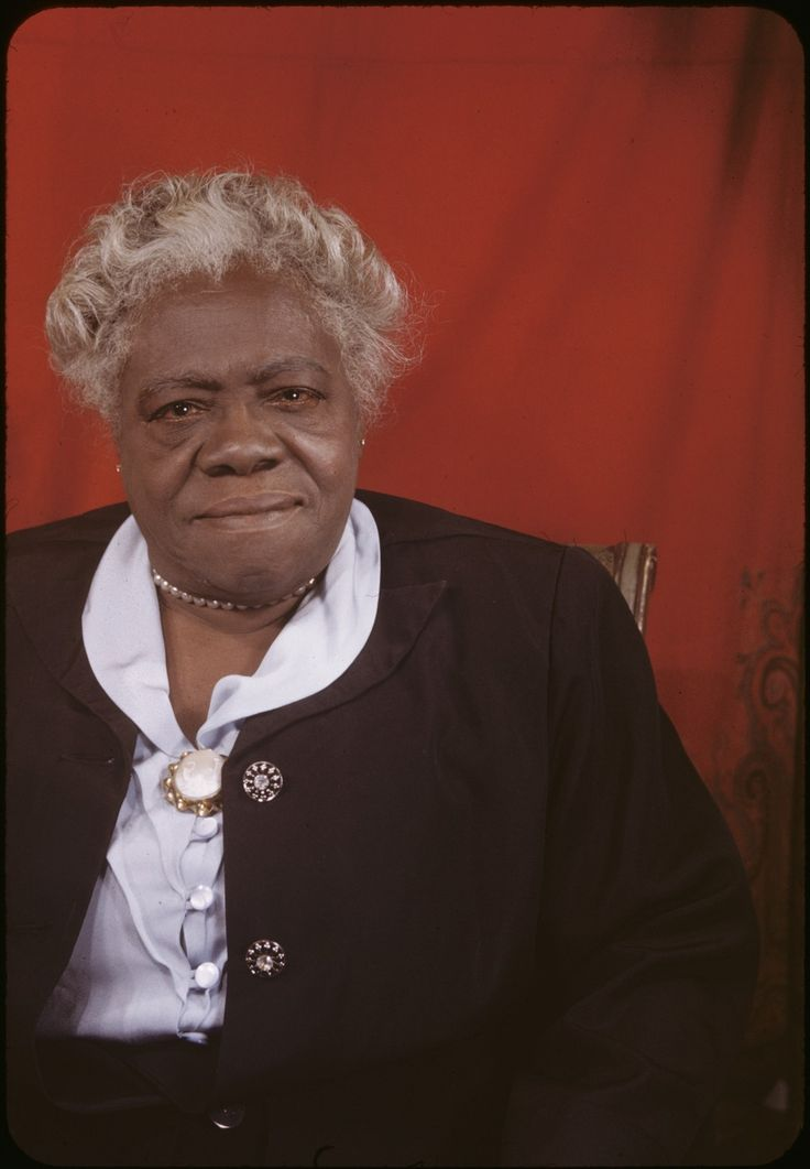 Mrs. Mary McLeod Bethune, 1949. African American civil rights activist and educator who founded the Daytona Normal and Industrial Institute for Negro Girls.