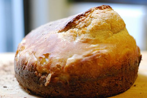 Overnight no knead one pot bread. This is awesome!