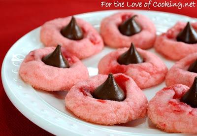 Cherry Chocolate Kiss Cookies   Desserts   Pinterest