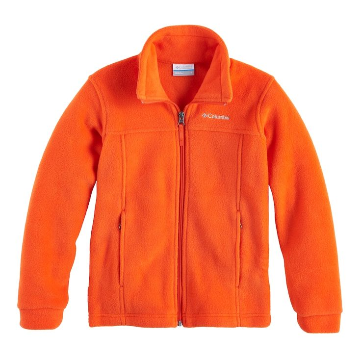 Boys 8-20 Columbia Fleece Flattop Ridge Jacket, Size: Medium, Orange Oth