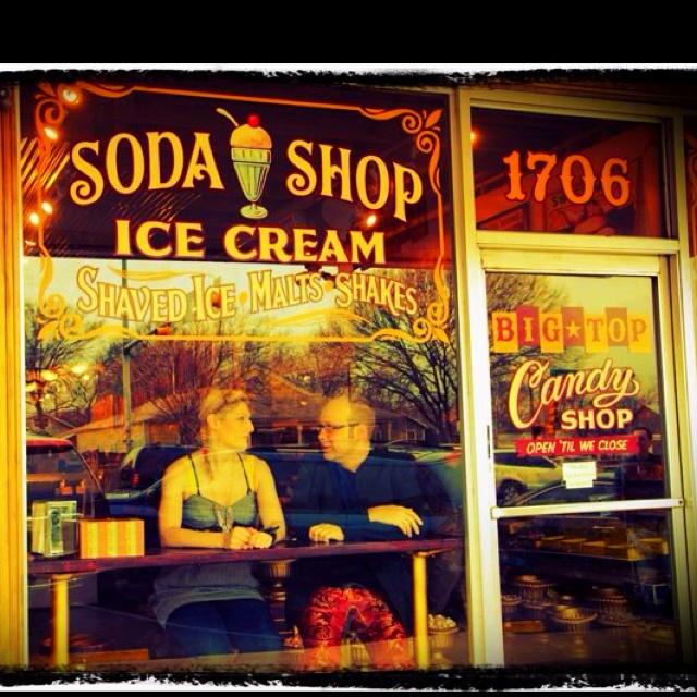 Soda shop, open till we close.