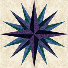 161 best Mariners compass quilts images on Pinterest | Mandalas ... : nautical star quilt pattern - Adamdwight.com