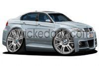 BMW E90 M3 Silver DK  Mug with Registration number  GU09 UGT