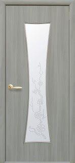 """http://ift.tt/2s28VUD #SumyDveri """"Часы"""" со стеклом сатин и рисунком (Ясень патина Экошпон)"""