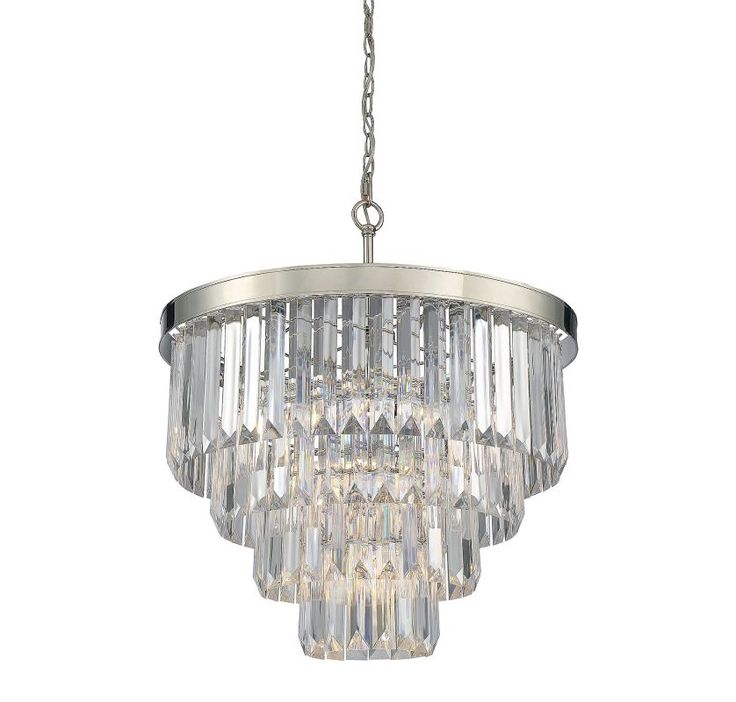 Savoy house 1 9800 6 tierney 6 light chandelier polished nickel indoor lighting chandeliers