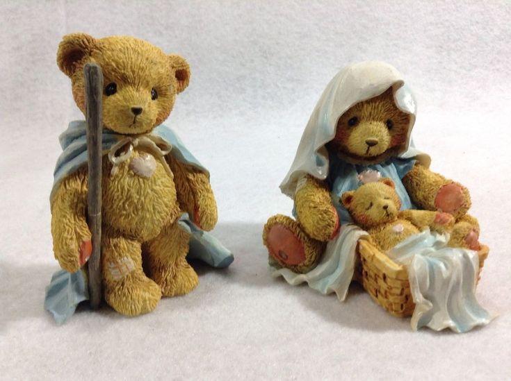 Cherished Teddies Christmas Figurines Nativity Josh Maria Baby 950688 Retired  #EnescoHamiltonGiftsLtd #cherishedteddies #cherishedteddiesnativity