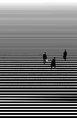 I chose this photo because of the use of line. The stairs creates a pattern that is disrupted by the subjects in the photo (the people).