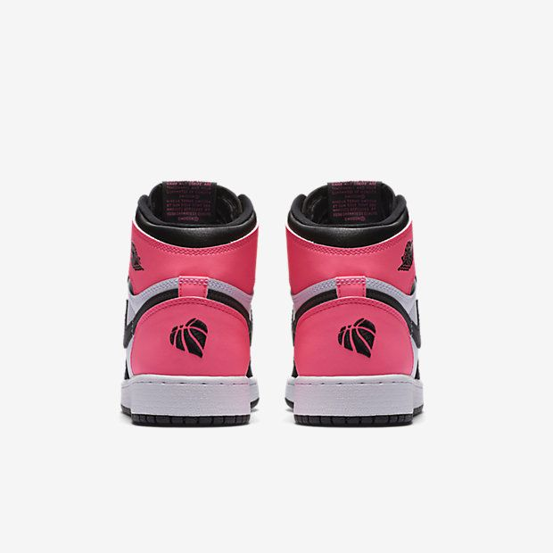 90db881d6d3 Air Jordan 1 Retro High OG (Girls) Black / Hyper Pink / White ...