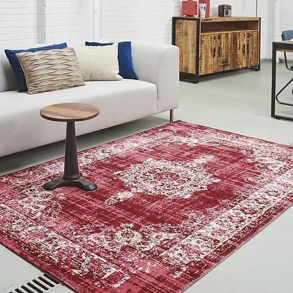 Vintage vloerkleed classic rood/roze