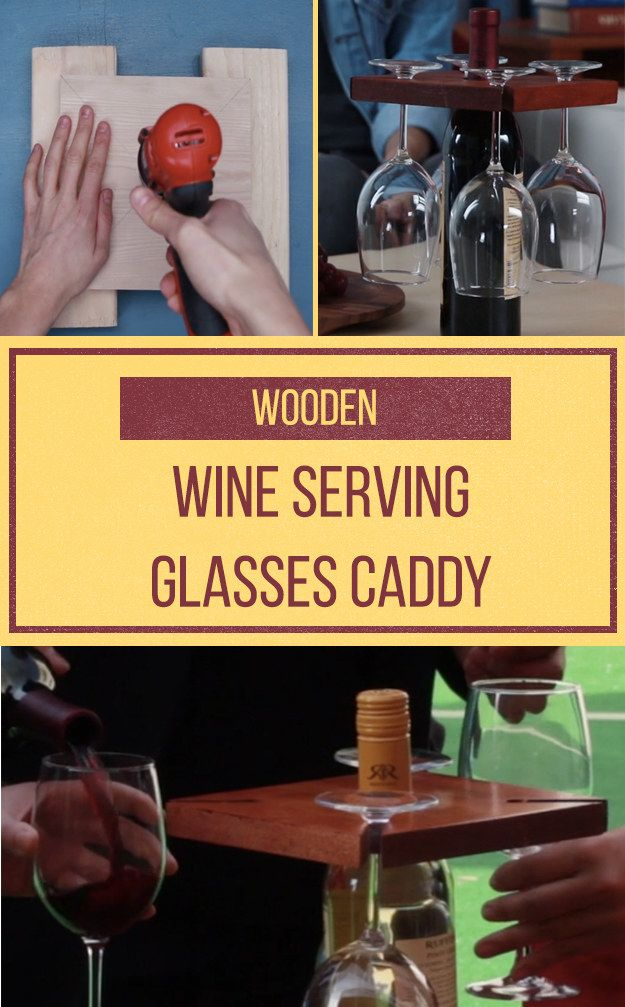 Serve a group with this clever wine caddy!