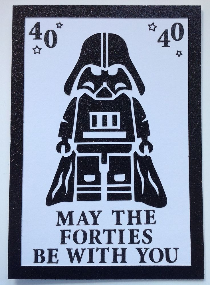 Star Wars 40th Birthday Card