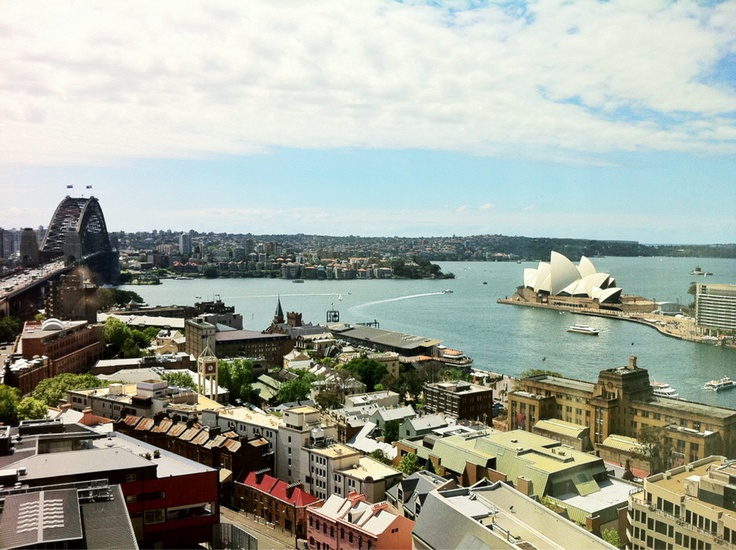 Iconic Sydney views from the corner suites at the Shangri La Hotel, Sydney NSW