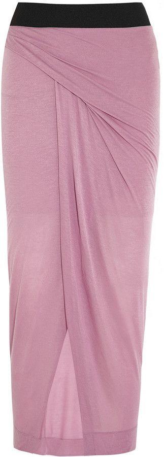 Helmut Lang Wrap-Effect Jersey Maxi Skirt