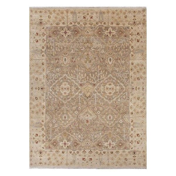 NOVICA Classic Oriental Taupe/Tan Wool Area Rug ($8,910) ❤ liked on Polyvore featuring home, rugs, taupe rug, hand knotted rugs, asian area rugs, tufted wool rug and tufted rug