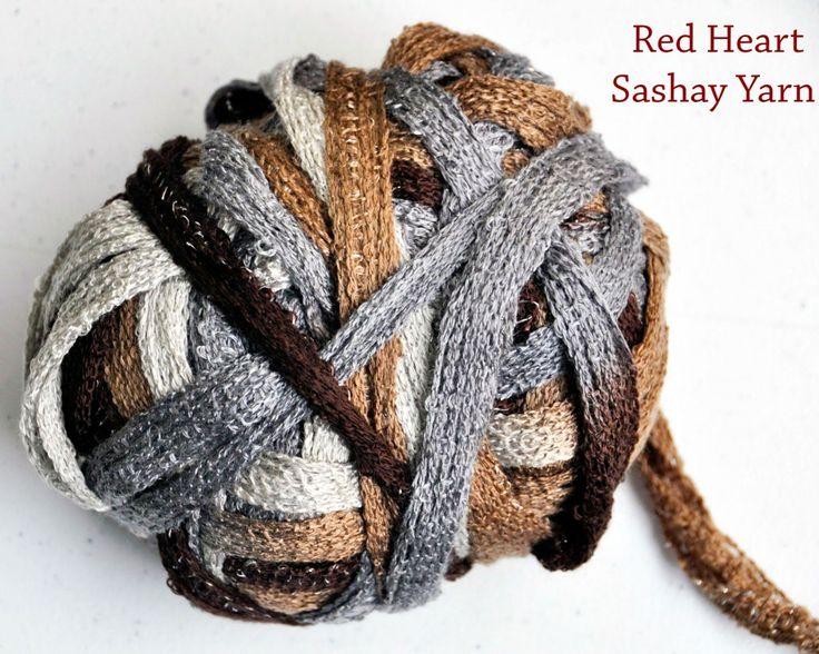 Ruffle scarf with red heart sashay yarn rockin mama rockin mama