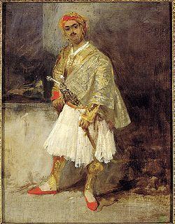 Έλληνας αρματωλός , ελαιογραφία του 19ου αιώνα.
