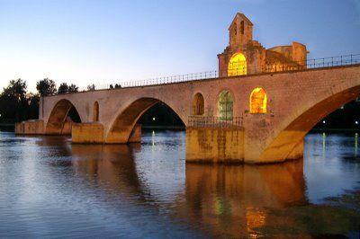 Le Pont D'Avignon in France---Cathedral built into the bridge