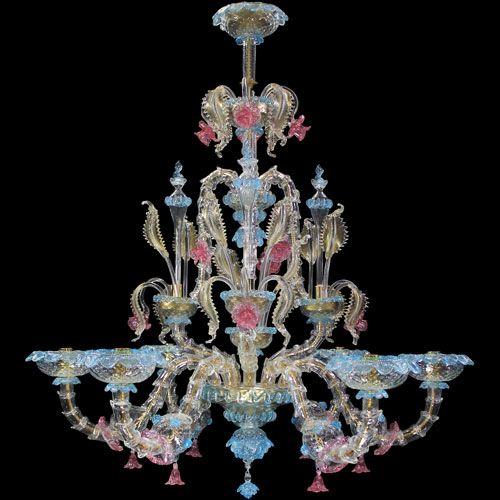 #Rezzonico #chandelier, #polychrome