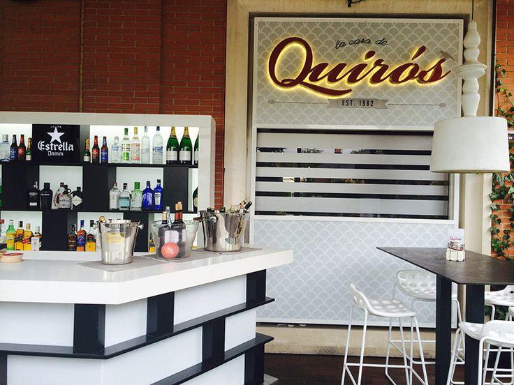 Terraza informal de verano del Restaurante La Casa de Quirós
