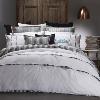 Tate Navy Super King Quilt Cover by Royal Doulton | Linen Lovers