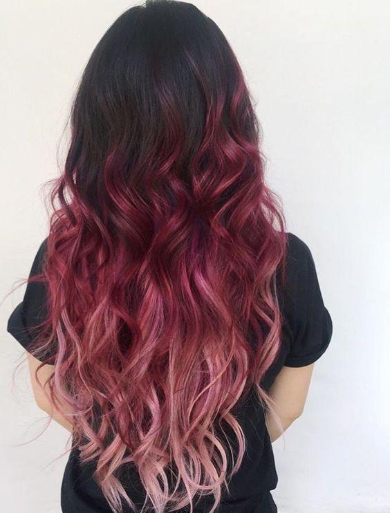 Modische Haarfarbe 2019 für langes Haar: Grundlegende Trends und Trends auf dem Foto   – frisuren