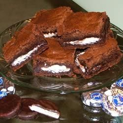 "Peppermint Patty Brownies | ""Excellent - followed the receipe exactly and the result was delicious! Made one batch with York peppermint patties, and one with Reese peanut butter cups(my husband doesn't like chocolate mint!) - both were yummy!"" -Cindy"