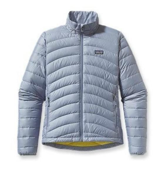 PATAGONIA DOWN SWEATER JACKET 800 FILL GOOSE LEADEN BLUE LEDB WOMENS NEW TAGS