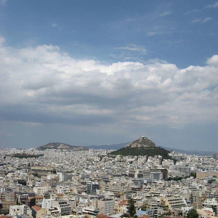 Vista sobre a cidade de Atenas #grecia
