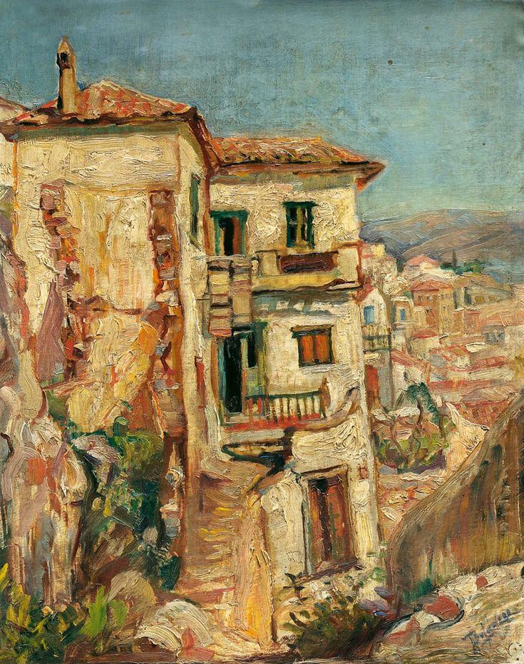 Περικλής Βυζάντιος (1893-1972) Παλιά σπίτια