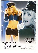 Torrie Wilson  2012 Benchwarmer Vault Cop Autograph Auto