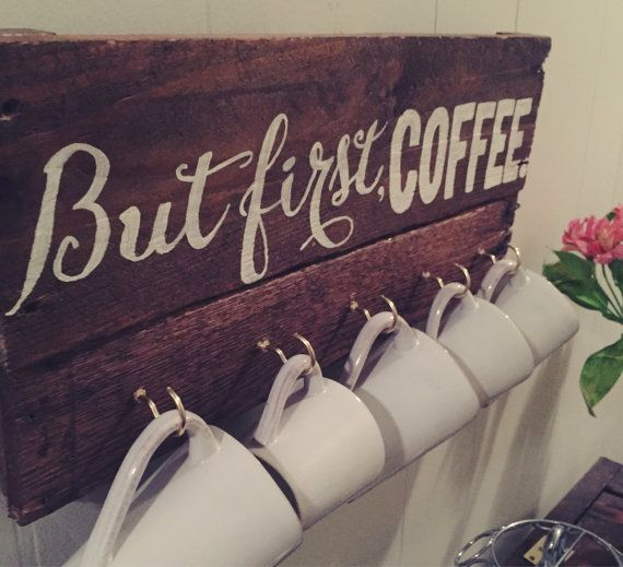 But First Coffee Mug Display by OliveandGrain on Etsy