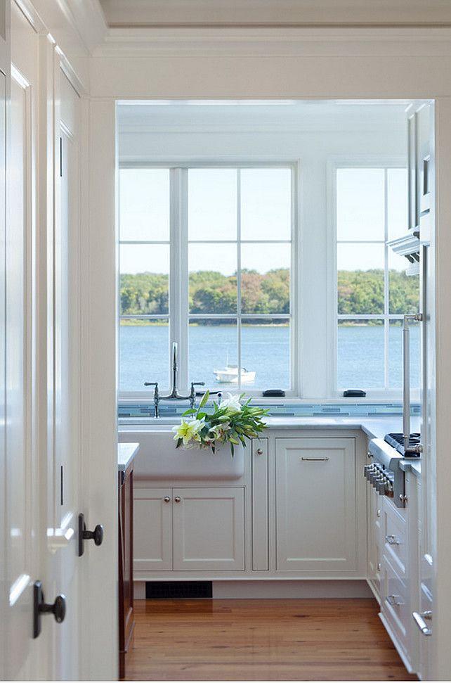 Kitchen. Ocean View Kitchen. Kitchen window frames ocean view. #Beachhouse #Kitchen #OceanView Jacob Talbot - Fine Homebuilders.
