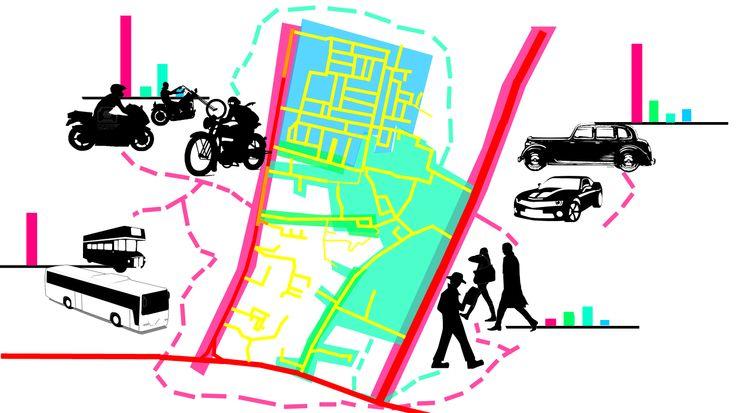 Mobilitas kendaraan dan sirkulasi manusia pada malam hari: manusia sudah jarang melewati jalan, kendaraan-kendaraan umum dan pribadi masih ramai karena jam pulan kerja