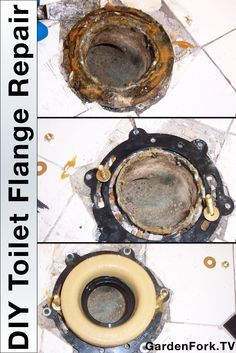 DIY Toilet Flange Repair - Learn how to replace the toilet flange with this step by step how to I made while repairing a leaking toilet. http://www.gardenfork.tv/toilet-repair-how-to-replace-a-broken-toilet-flange You may want to use two wax rings when repairing the toilet so it doesn't leak again.