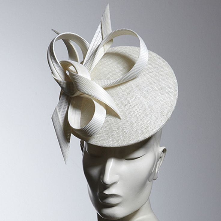 Philip Treacy London | Ivory Disc Bow | Ivory and Disc | LOVEHATS.COM