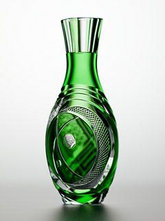 ** Váza - zelené sklo ♣ Edo Kiriko **