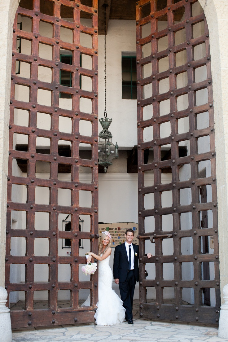 Santa Barbara courthouse  Read more - http://www.stylemepretty.com/2012/01/31/santa-barbara-wedding-by-team-hair-and-makeup-mi-belle-inc/