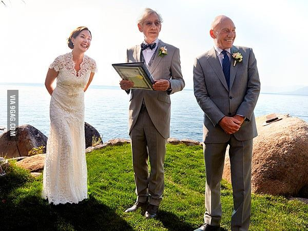 Patrick Stewart marries Sunny Ozell, in a ceremony officiated by Ian McKellen