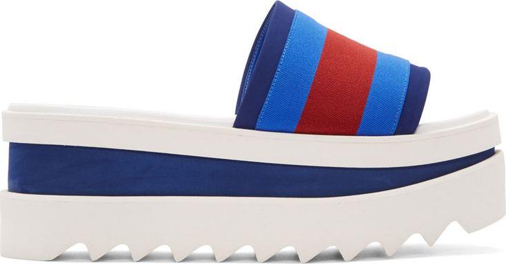Stella Mccartney: Blue & Red Platform Sandals