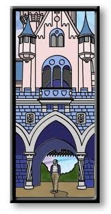,stained glass castle and walt