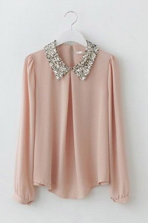 Turndown Collar Blouse from Picsity.com