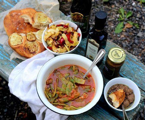 Пикник: что приготовить кроме шашлыка. Салаты из кабачков и зеленой фасоли…