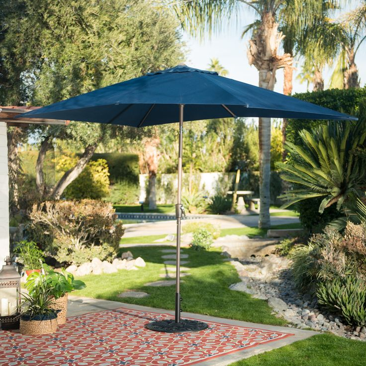 Belham Living 6.2 x 9.6 ft. Rectangular Patio Umbrella - 8000Z BRICK RED FS047