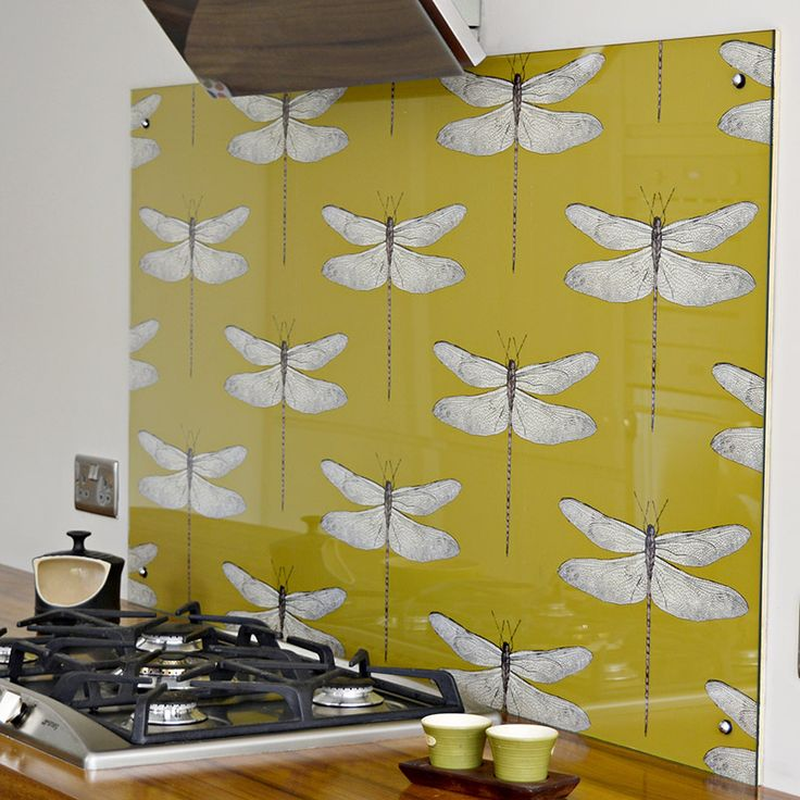 17 best images about kitchen on pinterest brass drawer for Statement kitchen wallpaper